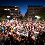 RT @GazaGlobal: #Greece: #FreePalestine placard raised at cleaners demonstration in Syntagma Sq. (28/6/2014) #GazaUnderAttack #Gaza http://t.co/CUtVZxBT7A