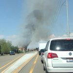 There is something burning on Eagle Rd yikes - we can see the flames... #Boise http://t.co/YGudkyfvwh