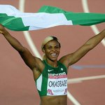 ...and she wins the double. Blessing Okagbare followed her 100m win with a victory in the 200m. Congratulations!!! http://t.co/VkFK6CCmxn