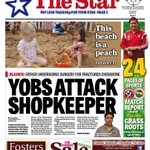 RT @SheffieldStar: Yobs attack shopkeeper in broad daylight. Here is the front page of Fridays Star #Sheffield #SouthYorkshire http://t.co/Tq7l1MPq9r