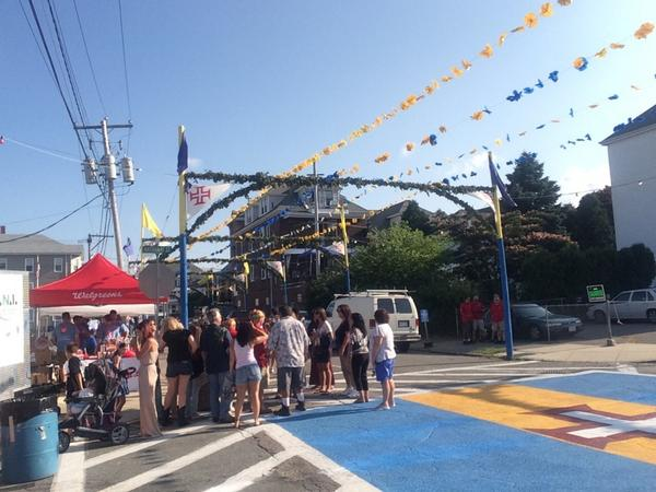 Shannon Hegy (@ShannonHegy): Live from New Bedford for the 100th Feast of the Blessed Sacrament. Reports every half hour on @wpri12 ! http://t.co/PLAXvfHQvI