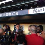 "RT @astros: #Astros GM @jluhnow addresses media after todays trade deadline deal. ""We feel really good."" http://t.co/Ca61Llbyz9"