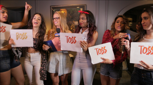 """My girls #FifthHarmony playing a game I made up called """"BO$$ or TOSS"""" comin soon on Clevver! https://t.co/eUuS6xjCKs http://t.co/CMhu5qkkJL"""