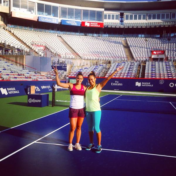 First practice in Montreal with @paula_ormaechea on centre..✌️not bad eh ☺️ http://t.co/i8FTxlUTZK