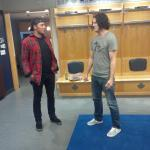 . @JLupul and Jack White before Jacks show tonight at @AirCanadaCentre #TMLtalk #Leafs http://t.co/GNyTt8DbFf