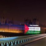 Press Release: Today PSC projected the flag of Palestine onto the Houses of Parliament. http://t.co/0aGI4M9OpC http://t.co/8N2dIQWsFH