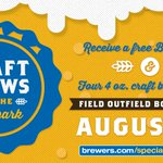 RT @Brewers: Join us for a beer tasting at Miller Park on 8/8: http://t.co/73vrS36CAf http://t.co/2dScLri2YC