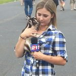 Plaid shirt..check! Baby goat...check! Ready for my live shot at 630 at the fair! Hope youll join us on @KTVZ http://t.co/53eDn5l05r