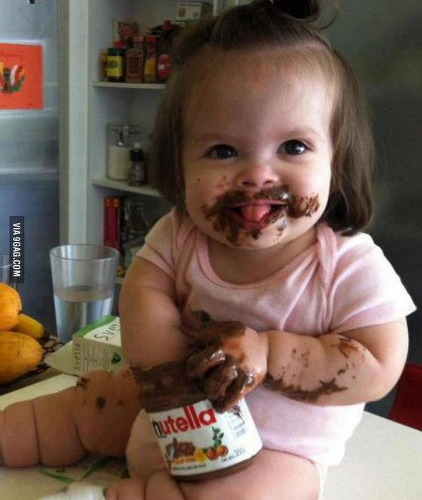 Pure joy! #nutella