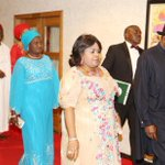 Pres.Jonathan & First Lady, Mrs Mark, Gen Danjuma, Sen. Ekweremadu arriving for fundraiser for terror victims yday. http://t.co/D4Fg9qNvBk