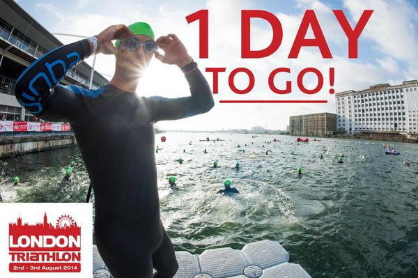 Good morning all triathletes! Just 1 day to go until 2014 London Triathlon! How are you feeling? #LT2014 http://t.co/o9iftFs6yC