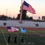 Retiring of the colors ended the Louie Zamperini memorial. http://t.co/eDdKEzzIA0