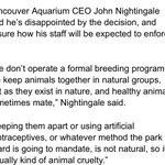 "So I wasn't being stupid. @VancouverAqua CEO says they don't have a ""formal breeding program"" http://t.co/nPbthYcoQN http://t.co/o7itkrcnhb"