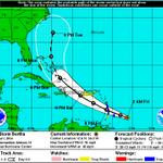 Here is the forecasted track for #TropicalStormBertha #ncwx #tropics http://t.co/vRFhRBR5OB