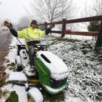 RT @ballaratcourier: Snow? Doesnt matter. Grass needs mowing. http://t.co/LqLfmH9DVK #Ballarat #snow http://t.co/wNqbDkfizt