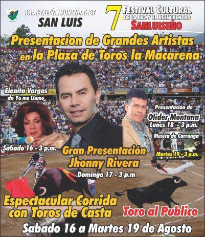 Confirmado @jhonnyrivera En San Luis - Tolima, Domingo 17 de Agosto 3:00 pm gran Concierto, Los Esperamos. http://t.co/8JYSm4zMCX