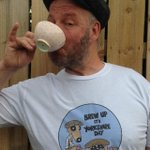 Me celebrating Yorkshire Day with Frank and Tony. TShirt courtesy of @YorkshireTea http://t.co/U1KhrM8ZwI
