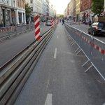 This is impressive making space for cyclists during roadworks. Istedgade, #Copenhagen http://t.co/USOsCd5Y2F