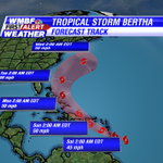 5am Tropical Storm Bertha update keeps the storm well out into the Atlantic after it moves across PR and Hispaniola http://t.co/48rKRl8Oto