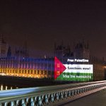 Protesters project Palestinian flag on to the House of Commons http://t.co/uHvfbUCxeB http://t.co/fc3YnVuoeS