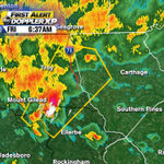 Heres the area of the t-storm warning that runs until 7:15am. High winds and hail possible. #ncwx http://t.co/3FoRfqqtDy