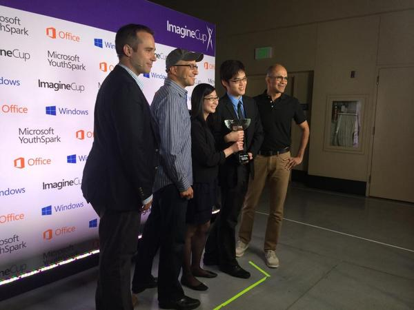 Team Eyenaemia from #Australia wins #ImagineCup 2014! Congrats! http://t.co/yN90bPYJ15