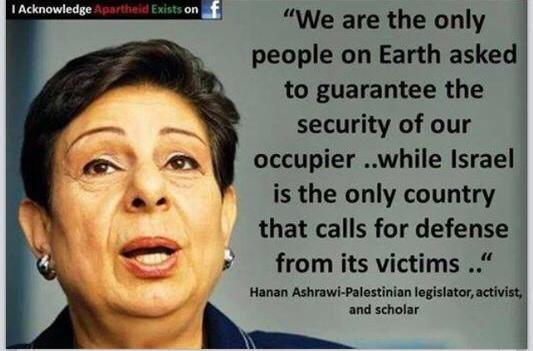 Hanan Ashrawi famous words about occupation, makes sense right? #Israel #GazaUnderAttack #ICC4Israel http://t.co/u3FLmkdvmI