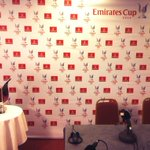 RT @Arsenal: The scene is set for the Emirates Cup pre-tournament press conference. Live updates @Arsenal http://t.co/LBNyd3gamL
