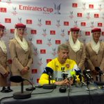 RT @Arsenal: The boss in the #EmiratesCup press conference right now http://t.co/ZMrA1x8wTK