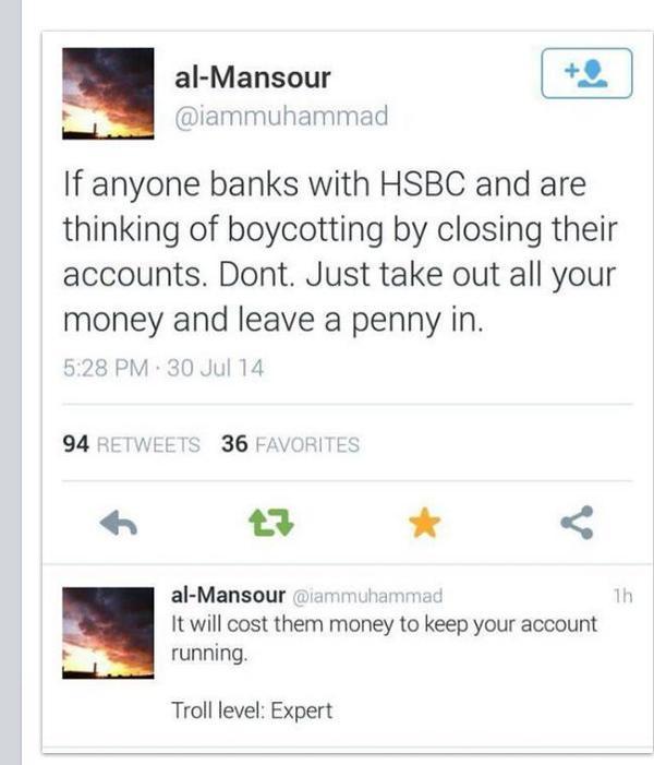 How to boycott HSBC RT @dellidrus: http://t.co/1jX31htpMs