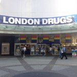 Nice to see @LondonDrugs on #vancouvers Granville St. In #Pride colours. Happy Pride weekend, everyone! http://t.co/LNC7P3S1Tp