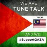 RT @TuneTalk: We are Tune Talk from Malaysia & we support Gaza. #supportGAZA http://t.co/3pbpxAGbIQ