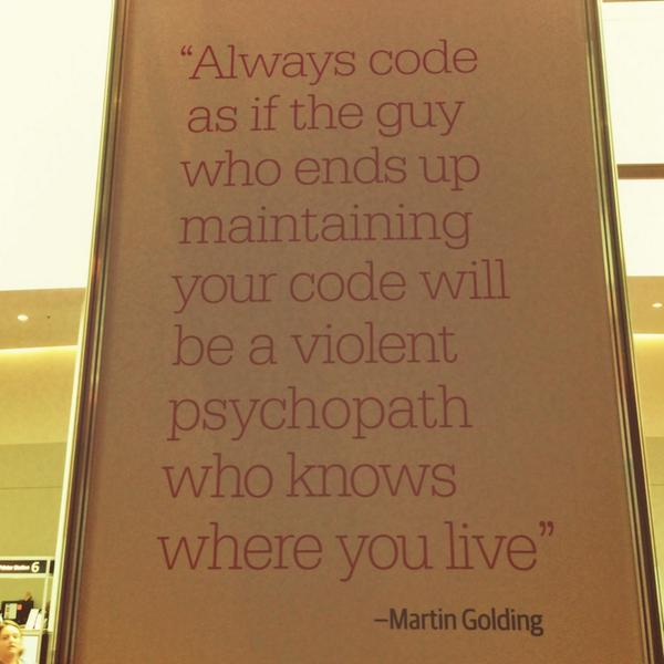 Wise words #oscon http://t.co/f4Jr9hnMcV