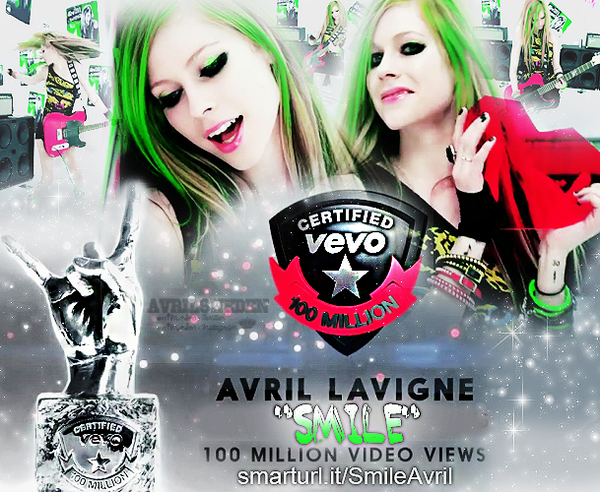 "Help ""Smile"" get #VEVOCertified and watch the video http://t.co/CbHxGnx0St. It's close! Let's go! {Edit:@AvrilSweden} http://t.co/8lOOF6uPWp"