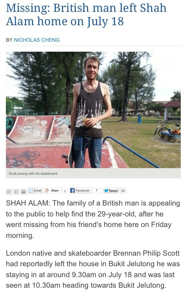 Fellow skateboarder Brennan is missing! Last seen with his skateboard. http://t.co/DYFK1PHRTb http://t.co/2uEHOOulNs