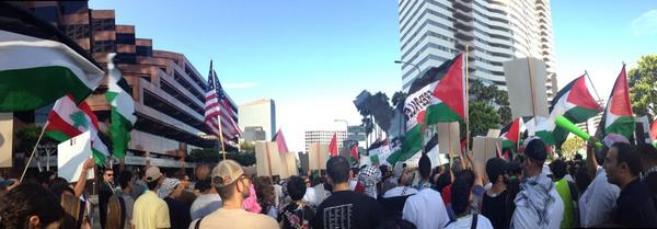 Los Angeles for Palestine. Thousands in the streets. #fb http://t.co/KWDwcUk0f8