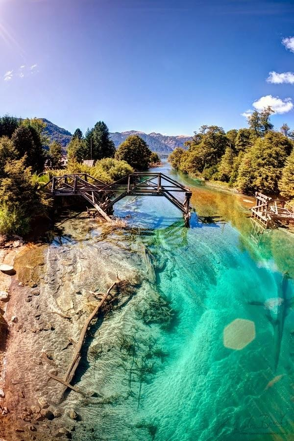 Loving the shades of green & blue. MT @sobore: Situated in the foothills of the Andes, Bariloche, Patagonia. http://t.co/5fBR7X0I39...