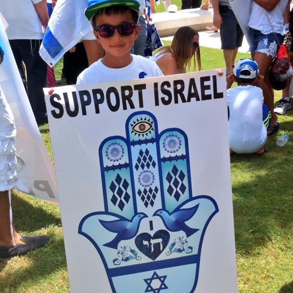 Pro Israel rally in Miami today!! #MiamiSupportsIsrael http://t.co/8XLcUFnGy6