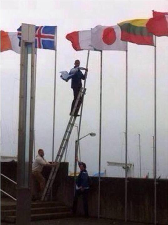 In Ireland - Dublin they took off Israel's flag!