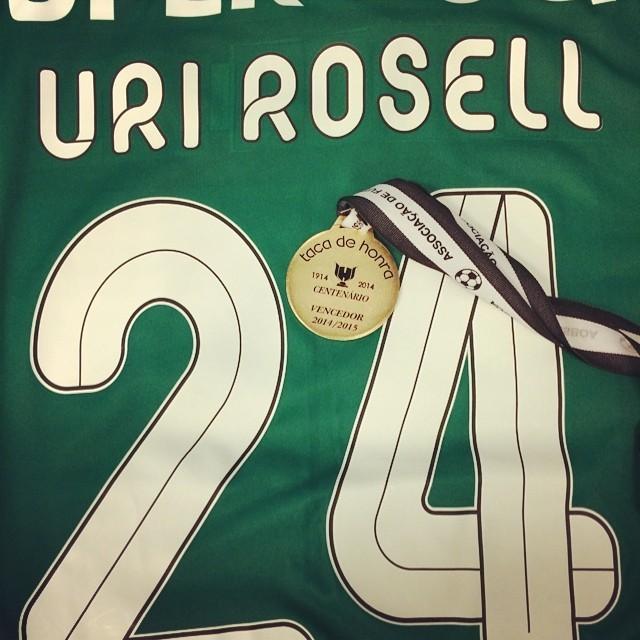 Primeiro trofeu do ano com o Sporting!!! #taçadahonra Obrigado a todos os adeptos! #feliz http://t.co/c3zfHRwcIu http://t.co/4iIWGm5iBl