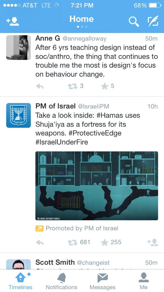 First I've seen actual propaganda as a promoted tweet http://t.co/y4ucwfq9v8
