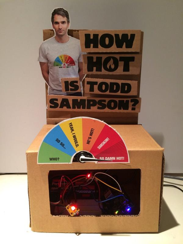 GOLD arduino + twitter activity is hotness Mondays. Hard to be smokin' on the twitters. For some!