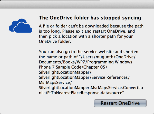 Unacceptable @OneDrive. How am I supposed to store 1TB of data when you support only 256 characters for file path