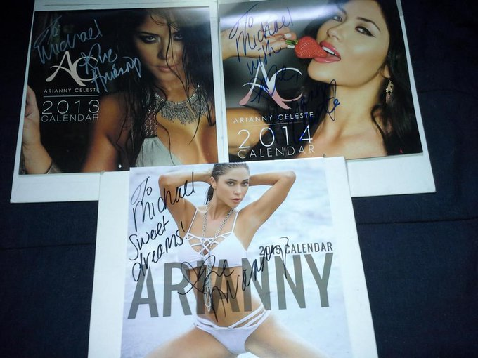 Arianny Celeste @ariannyceleste: RT @bsktkase: @AriannyCeleste got your new 2015 calendar added to my collection, thank you again http://t.co/KXAWgketcP