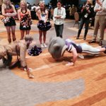 A mascot push-up contest has broken out here at #Big12 media days. http://t.co/SCz0Tbpmxy