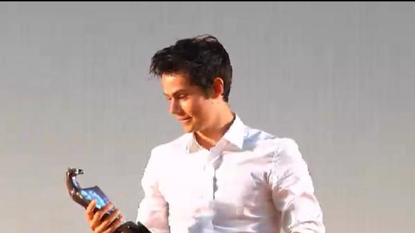 Dylan receiving the Giffoni award awwww <3 http://t.co/cLo1JiI3cF