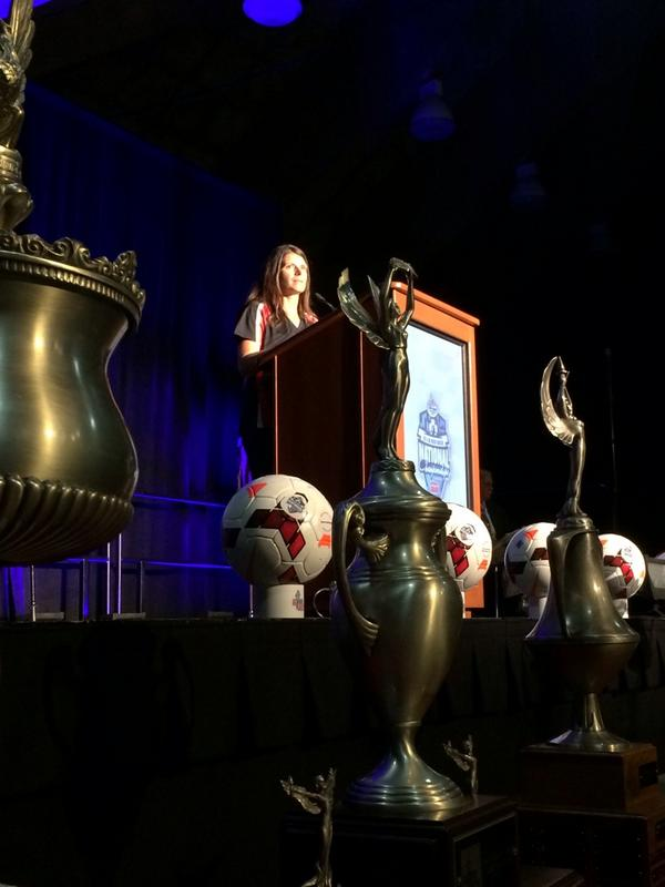 Mia Hamm at the @USYouthSoccer National Championships Player Luncheon! #ROADtoMD https://t.co/UX8166546V http://t.co/Qpub4hqVBn
