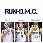 "RT @MavsFansForLife: I am officially naming the trio of Dirk Nowitzki, Monta Ellis, and Chandler Parsons... ""Run-D.M.C."" #Mavs http://t.co/heSudxE8xi"