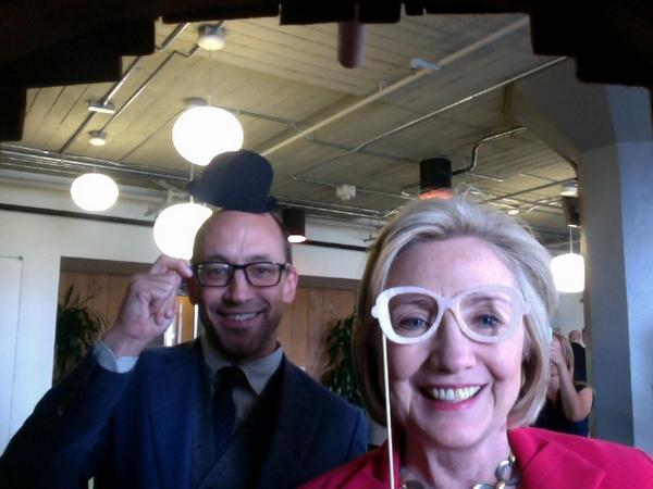 "This is everything. ""@twisitor: Hey, it's @HillaryClinton and @dickc at the @Twoffice! http://t.co/LXqZsJpnCY"""