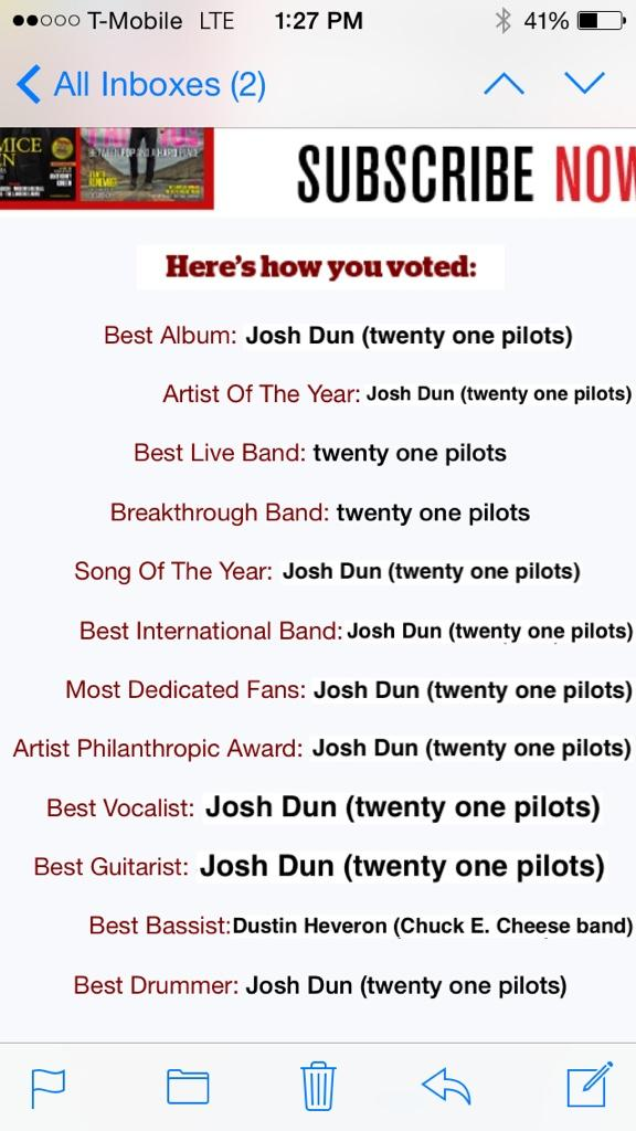 guys here's how I voted for the #APMAS tonight, make sure to watch #twentyonepilots! CC: @joshuadun @twentyonepilots http://t.co/nsc7DNgSQf